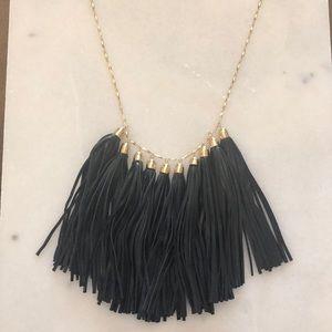 Black tassel Baublebar Necklace